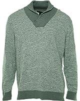 INC International Concepts Men's Light Gray Heather Shawl Neck Sweater