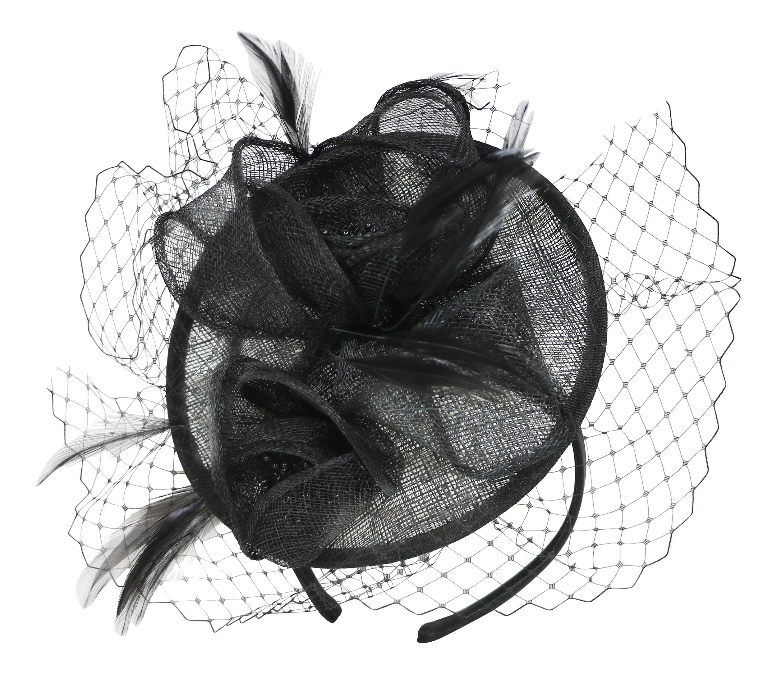 Fine Millinery by August Hat Co Sweet Pea Fascinator Hat (Black, One Size)