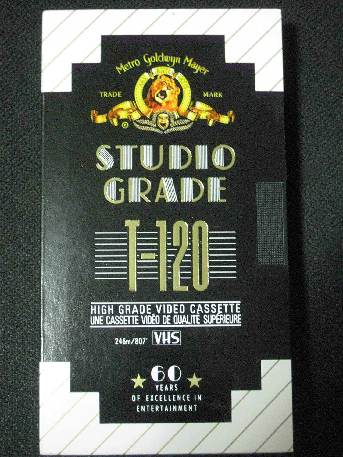 Amazon.com: Set of Five High Grade Video Cassettes (VHS) MGM Studio Grade T-120: Home Audio & Theater