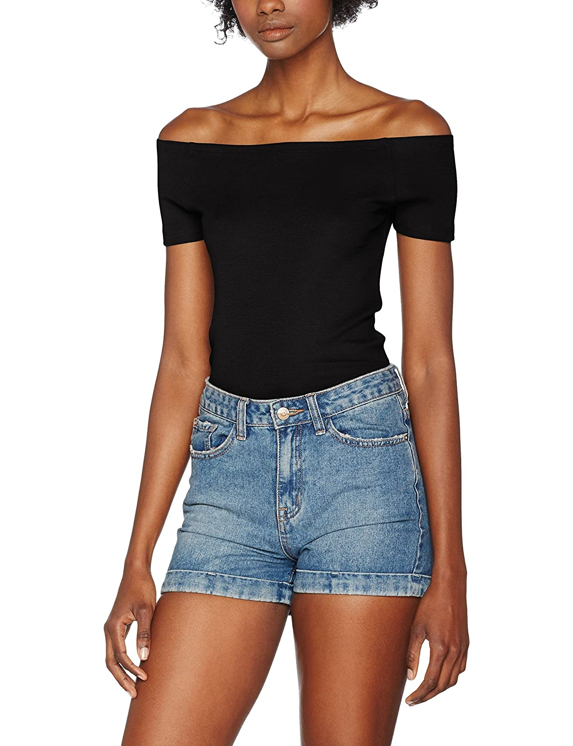f53e1685 durable service Urban Classics Mujeres Ropa superior / Camiseta Off  Shoulder Rib