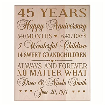 Amazon Personalized 45th Anniversary Gifts For Him Her Couple