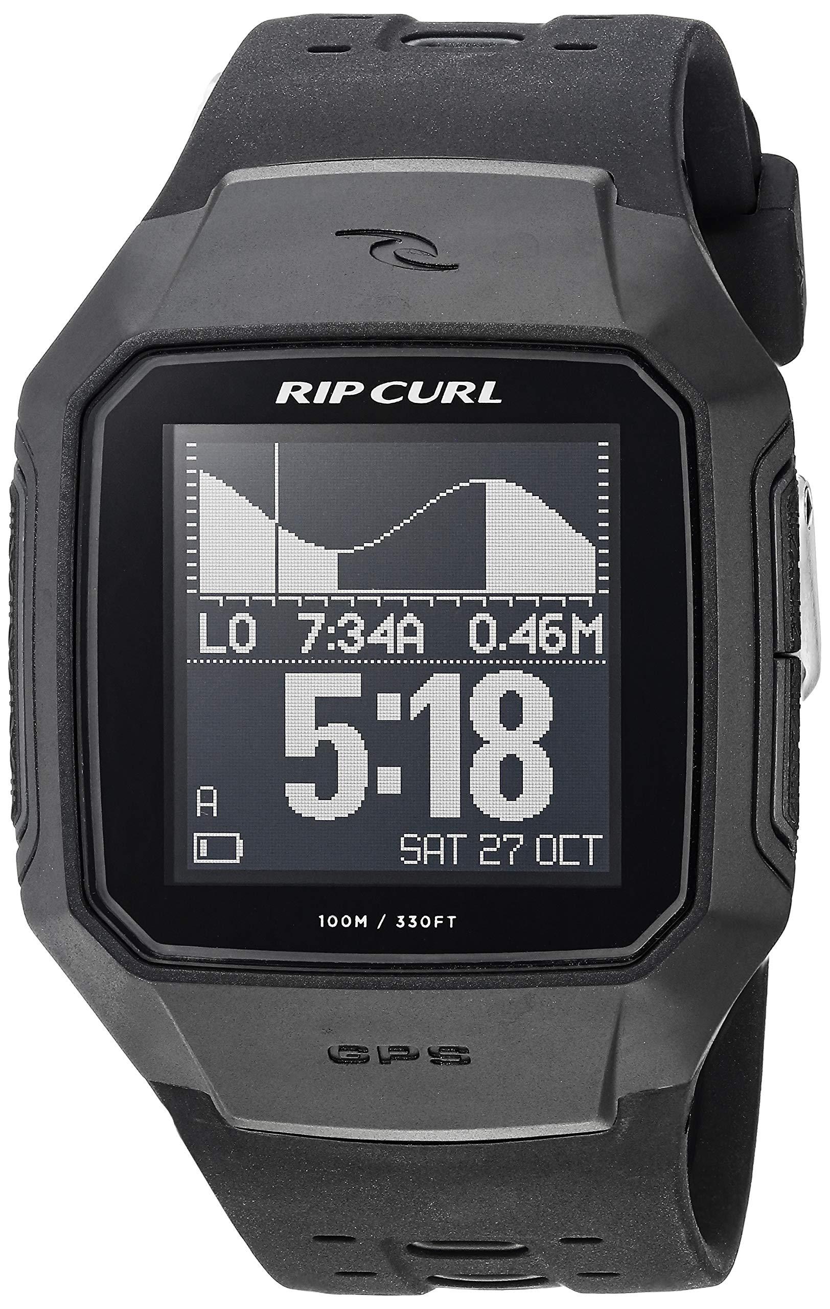 Rip Curl Men's A1144-BLK SearchGPS Digital Display Quartz Black Watch