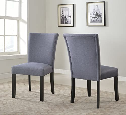 US Pride Furniture Sally Collection Set of 2 Classic Fabric Upholstered Dining Room Armless Accent Chair