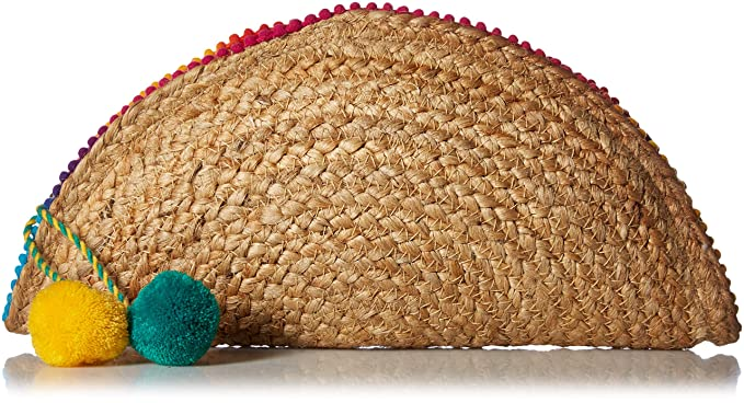 Circus by Sam Edelman Margarite Taco Clutch, Natural/Rainbow