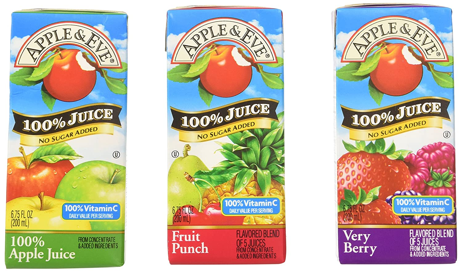 Apple & Eve 100% Juice Variety Pack, (36) Count, 6.75 Oz Boxes