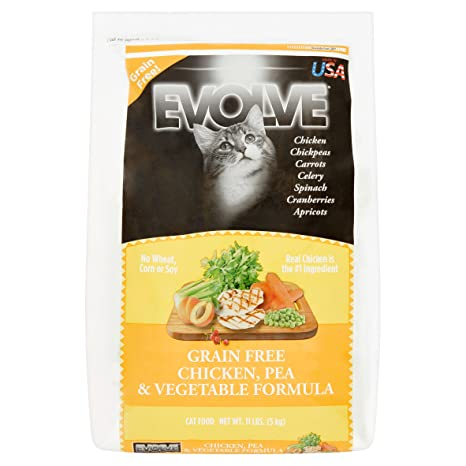 Evolve Grain Free Deboned Chicken, Pea & Vegetable Formula Cat Food, Large