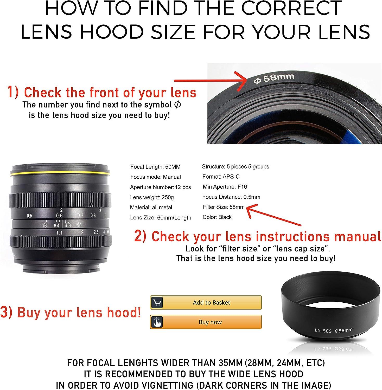 Original lente Canon tapa tapa 18-55mm Front tapa ø58mm e-58 e 58 II