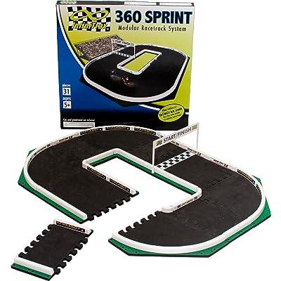 InfiniTrax 360 Sprint Micro R/C Modular Race Track: Toys & Games