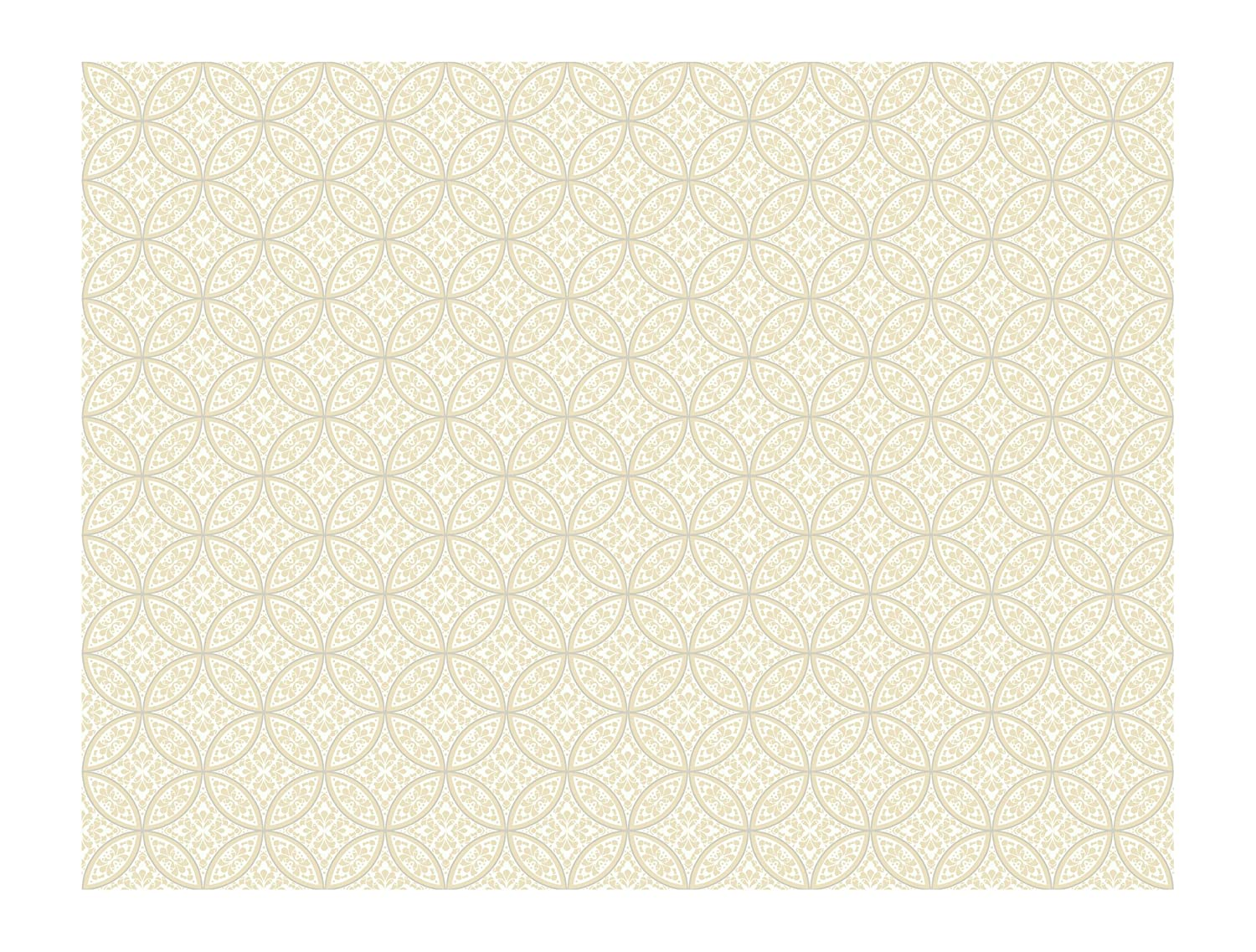 York Wallcoverings AP7432SMP Silhouettes Lacey Interlocking Circles Wallpaper Memo Sample 8-Inch x 10-Inch