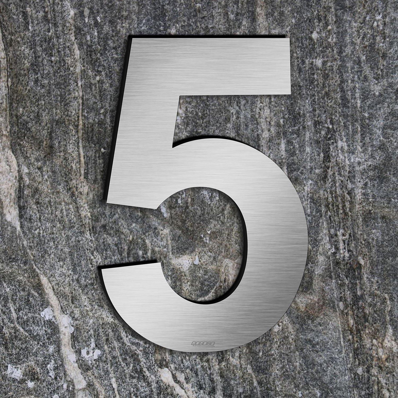qoboob® Numéros de Maison 7 Sept Chiffres de Rue à visser en 304 Acier inoxydable Brossé 200mm (1 Pièce) qobobo