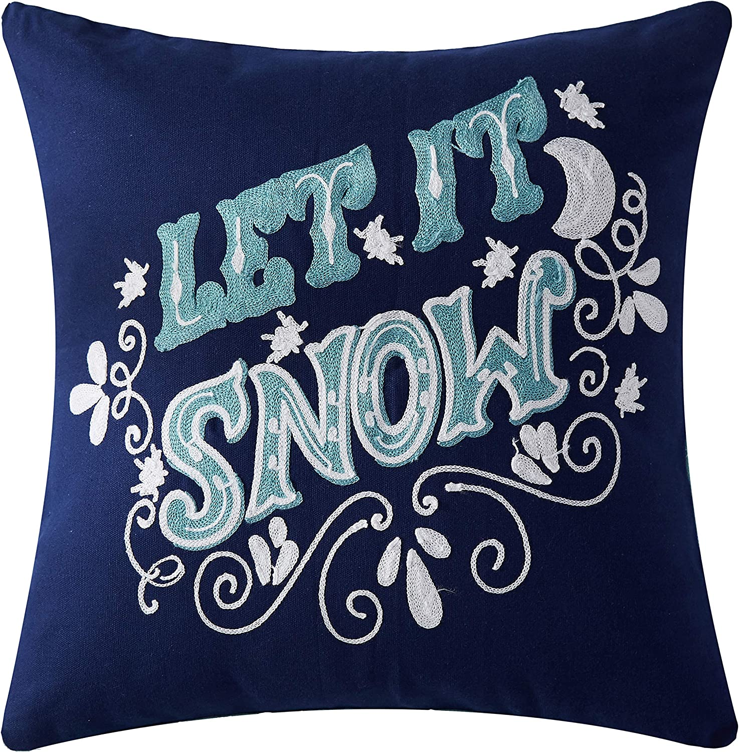 """Let It, Snow!"" Christmas Decorative Throw Pillow Cover"