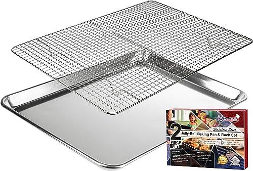 Kitchenatics Jelly Roll Aluminum Cookie Pan Tray