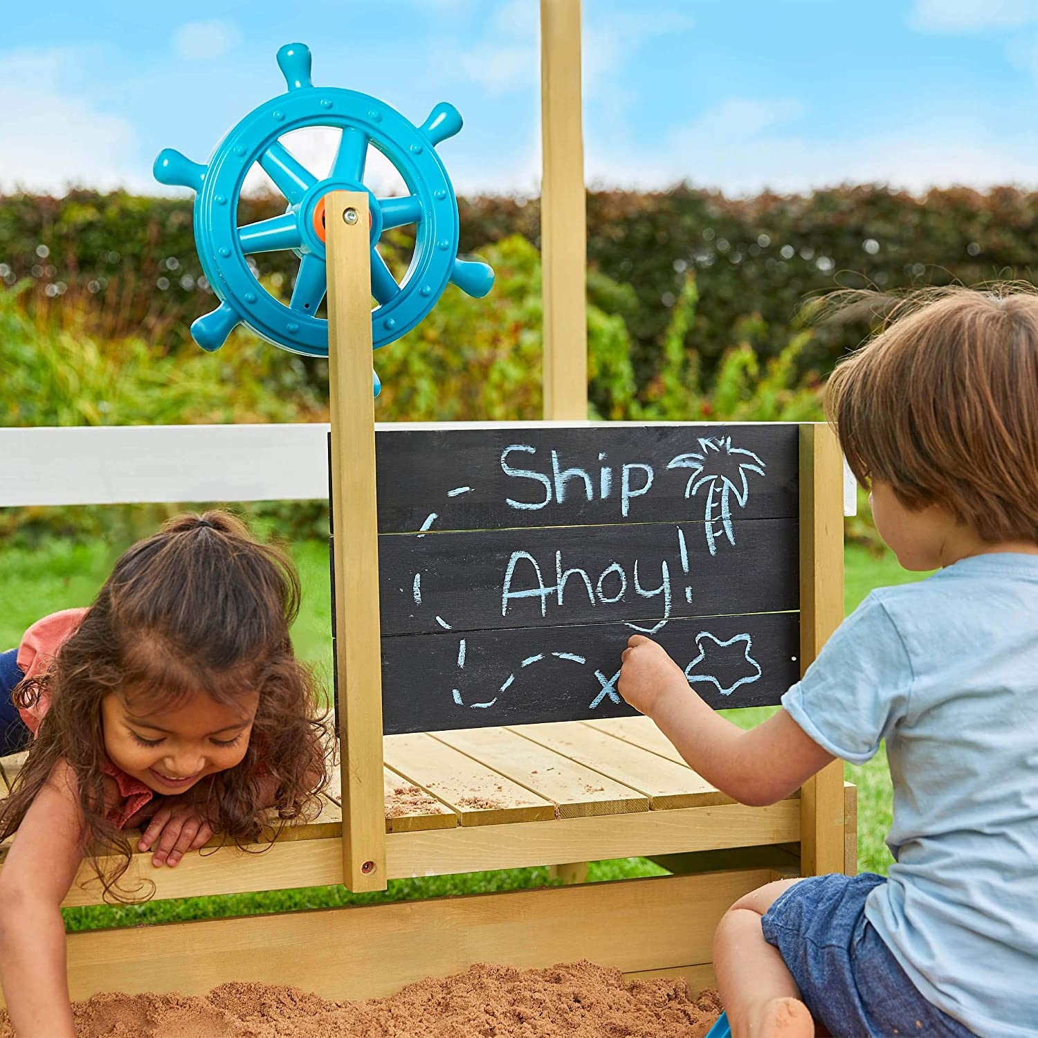 Painted TP Toys TP619 Ahoy Wooden Play Boat