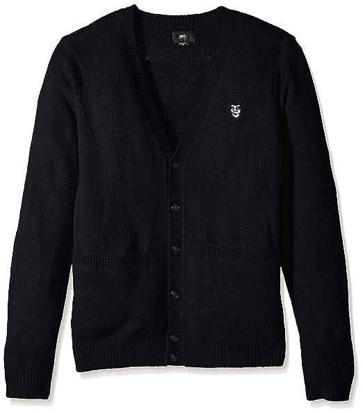 Amazon.com: Obey de los hombres Corte chaqueta de punto II ...