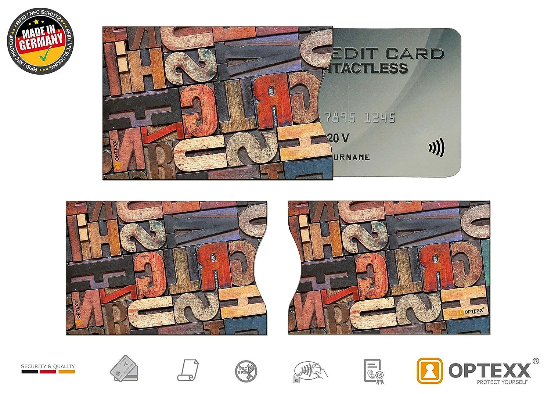 OPTEXX 5x RFID Schutzh/ülle T/ÜV gepr/üft f/ür Kreditkarte H/ülle Karten RFID Blocker Donuts