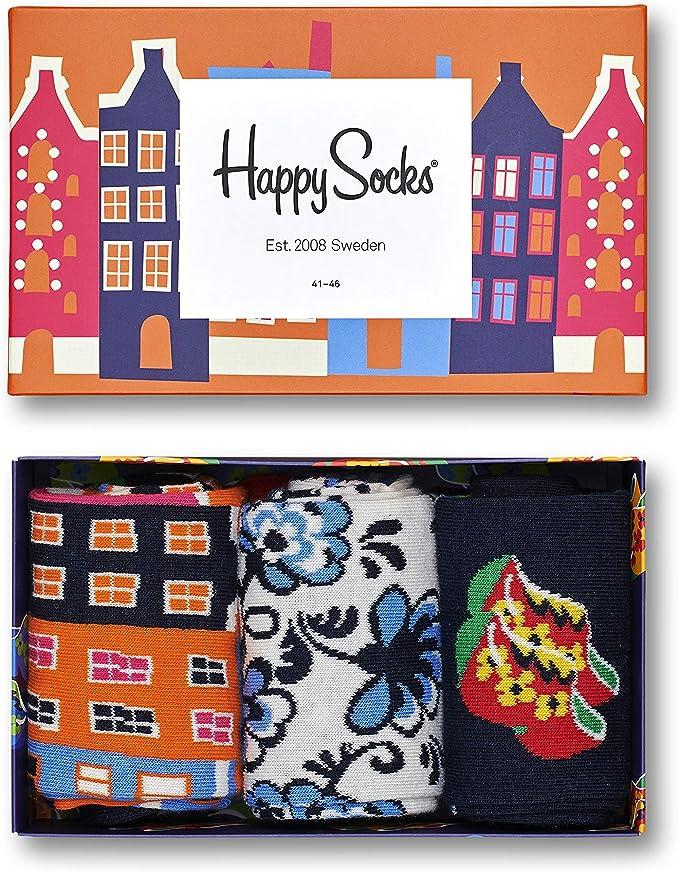 41-46 Happy Socks Gift Box Geschenkbox 3er The Beatles bunt // bunt 36-40
