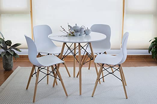 Cambia Tus Muebles - Pack Mesa Replica Eames 80 R Pack 4 Sillas ...