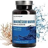 Nutrimea Magnésium Marin + Vitamine B6 - 300 mg / jour - 120 gélules d'origine végétales jusqu'à 4 mois de cure - Fabrication française ⭐ Combat efficacement la fatigue ⭐ Satisfait ou Remboursé