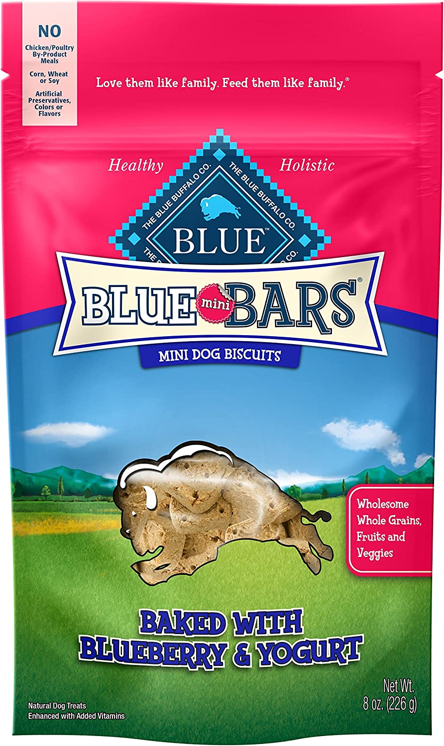Blue Mini Bars Crunchy Dog Treats