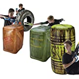 BUNKR Inflatable Battlezone Battle Royale Set (4 Piece) - Compatible with Nerf, Laser X, X-Shot and Boomco