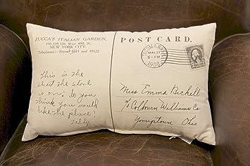 Dekokissen Loungekissen Antik Stamp Postkarte 45 Cm Sofa Kissen M Fullung