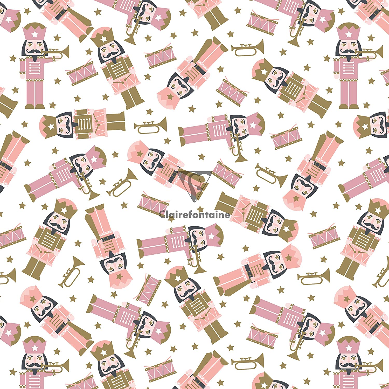 Caja de 12 rollos de papel de regalo dise/ño de Ritournelle 2 x 0,70 cm, 80 g Clairefontaine 202041AMZC Excellia