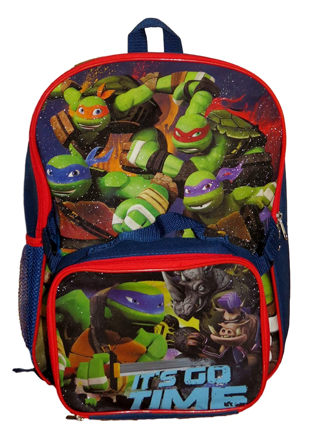 TMNT Ninja Turtles Hit the Streets Backpack with Detachable Insulated Lunch Box