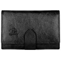 The Clownfish Duchess Series Women's Wallet | Ladies Purse | Women Clutches | Wallet Credit Card And Money Holder (Black)