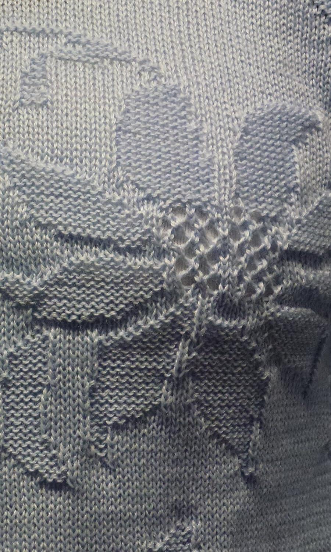 Kranz Wolle Acryl Damen Bettjacke Gestrickt mit Langarm Cardigan Nachtw/äsche Strickjacke Weich