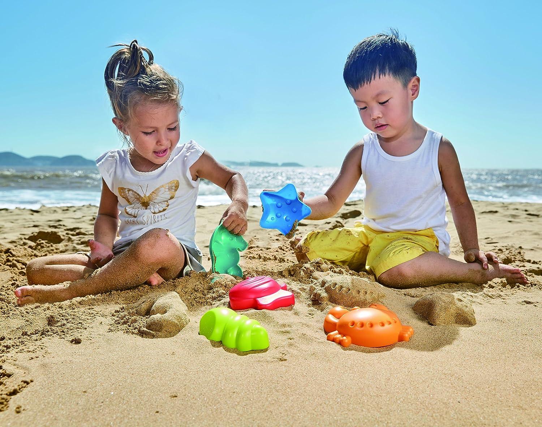 Hape E4058 Meerestiere-F/örmchen Strandspielzeug//Sandspielzeug mehrfarbig