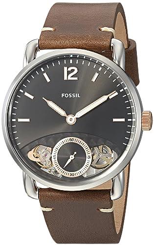 Fossil Reloj Analógico para Hombre de Cuarzo con Correa en Cuero ME1165: Fossil: Amazon.es: Relojes