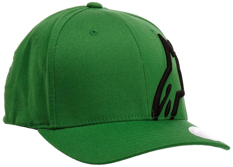 Alpinestars Men's Curved Bill Structured Crown Flex Back 3D Embroidered Logo Flexfit Hat 1032-81008