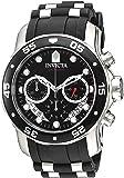 Invicta 21927 Men's Pro Diver Black Dial Steel & Silicone Strap Chronograph Watch