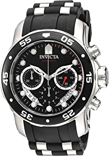 697870d8c Invicta Men's 'Pro Diver' Quartz Stainless Steel and Silicone Watch,  Color:Black