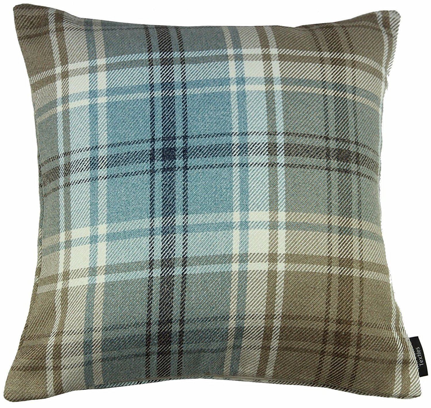 McAlister Angus Farmhouse Plaid 16 Decor Pillow Cover   Red 16x16 Throw Cushion Case   Heavy Linen Woven Texture   Striped Primitive Rustic Cabin Accent McAlister Textiles UKASNHKTN2622