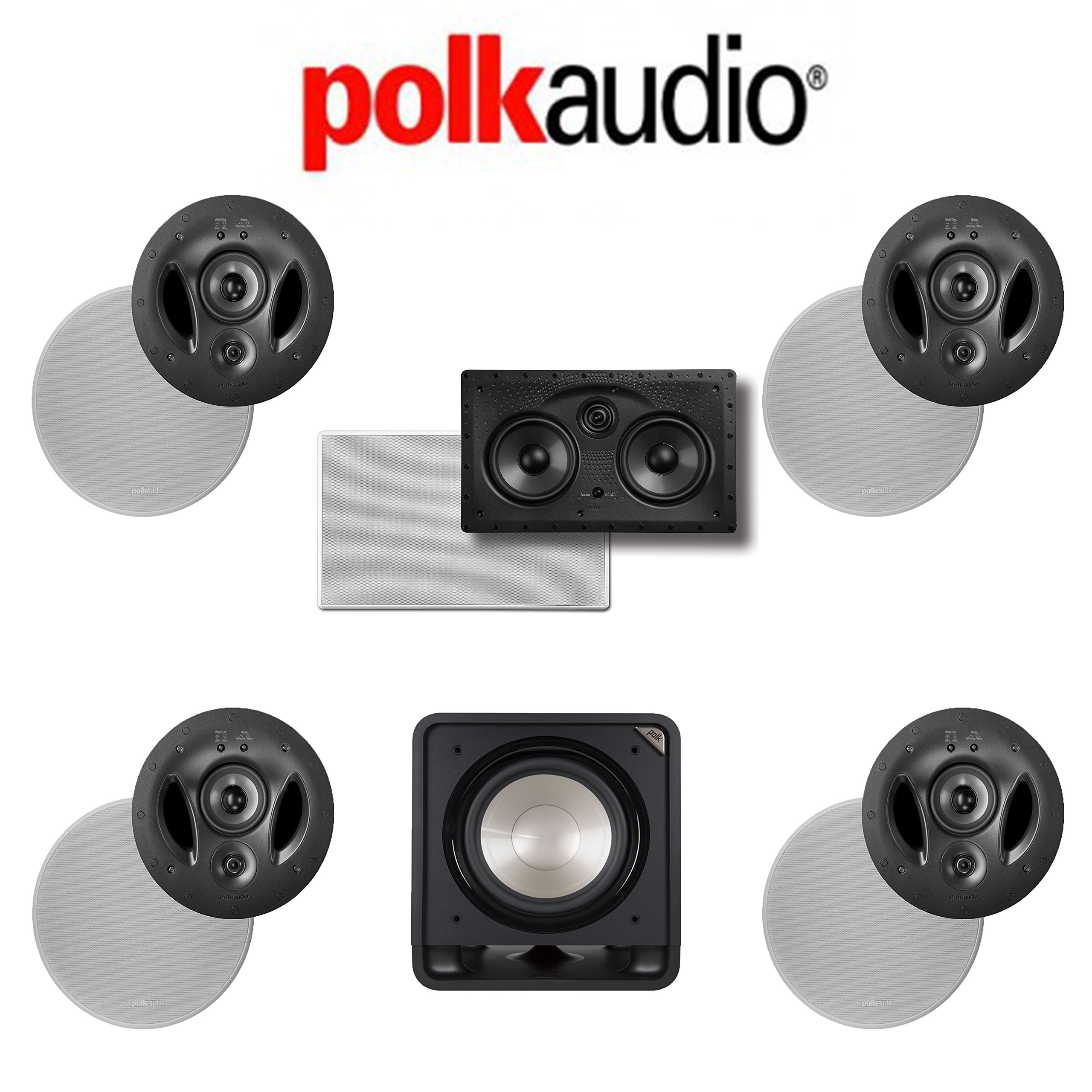 Polk Audio 900-LS 5.1 Vanishing Series In-Wall / In-Ceiling Home Theater System (900-LS + 255C-LS + HTS12) by Polk Audio