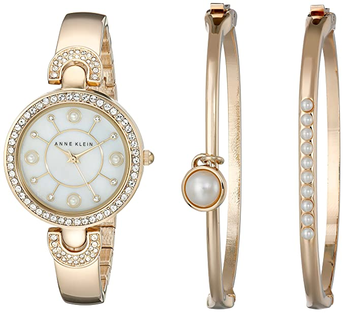gold kors s women jaryn watches rose michael steel watch bangle