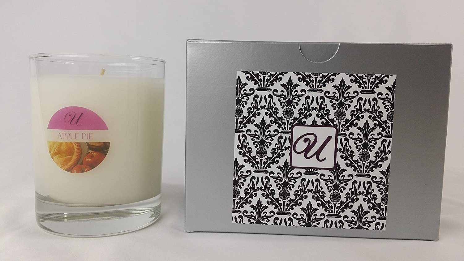 Apple Pie (14 oz Glass Container) Unrivaled Candles Select-a-Size (Necklace); Jewelry Inside Valued at $10 to $10,000.