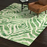 Amazon Brand – Rivet Modern Geometric Area Rug, 8 x 10, Green
