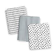 SwaddleMe Muslin Blanket 3-PK, Black and White Swirl, One Size