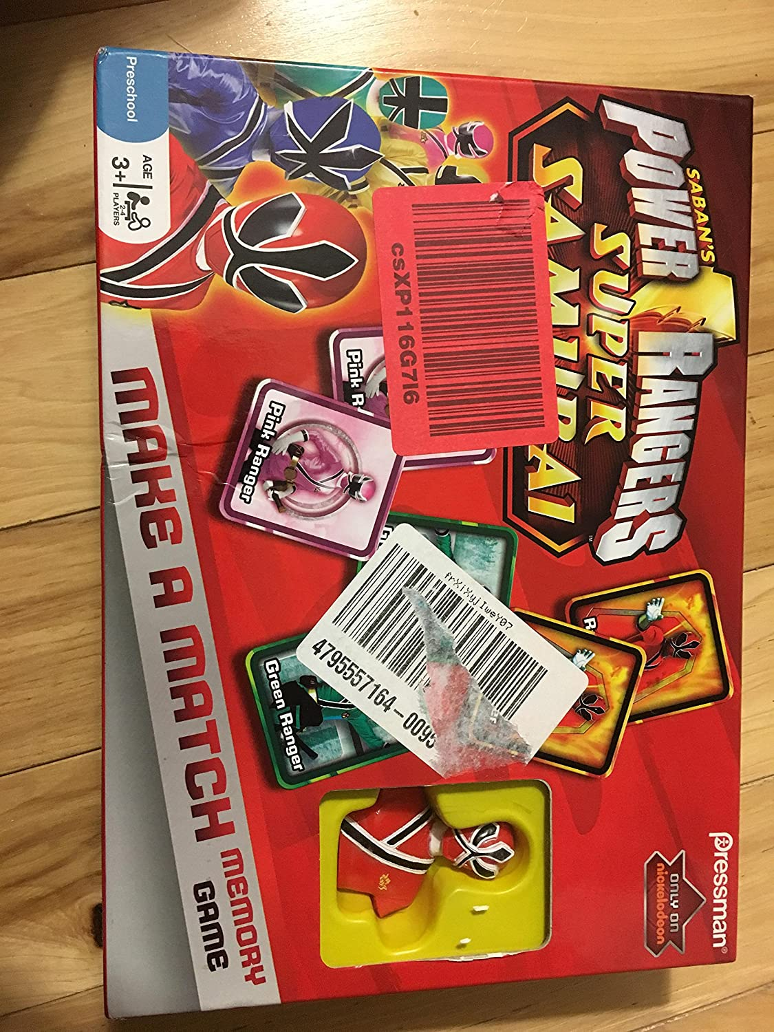 Pressman Toys Power Rangers Samurai Make A Match Memory Game
