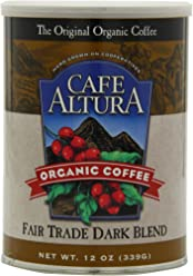Cafe Altura Ground Organic Coffee, Fair Trade Dark Blend, 12 Ounce (Pack of 3)