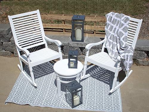 Pebble Lane Living All Weather Indoor/Outdoor Exclusive Elegant Hardwood Bistro Set