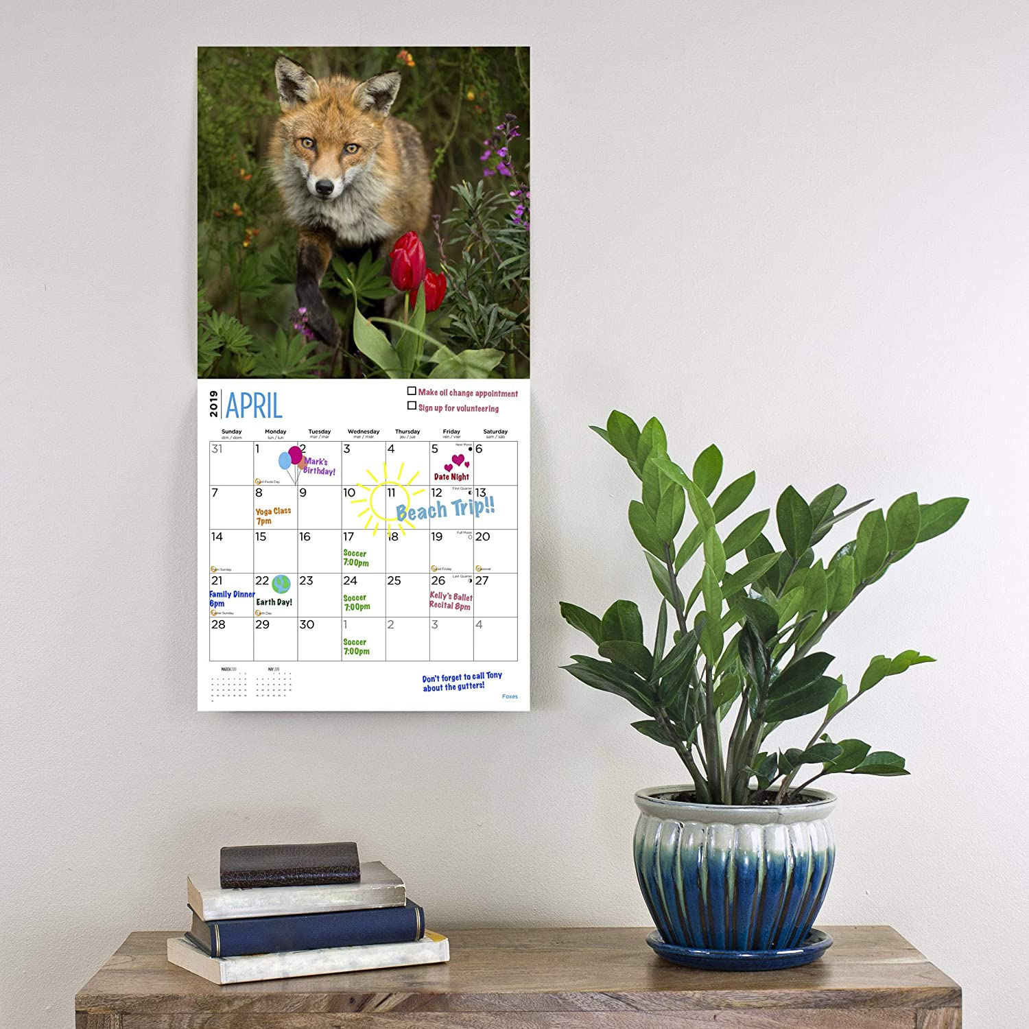 Wild Animal Collection 2020 Sloths Calendar 16 Month 12 x 12 Wall Calendar by Bright Day Calendars