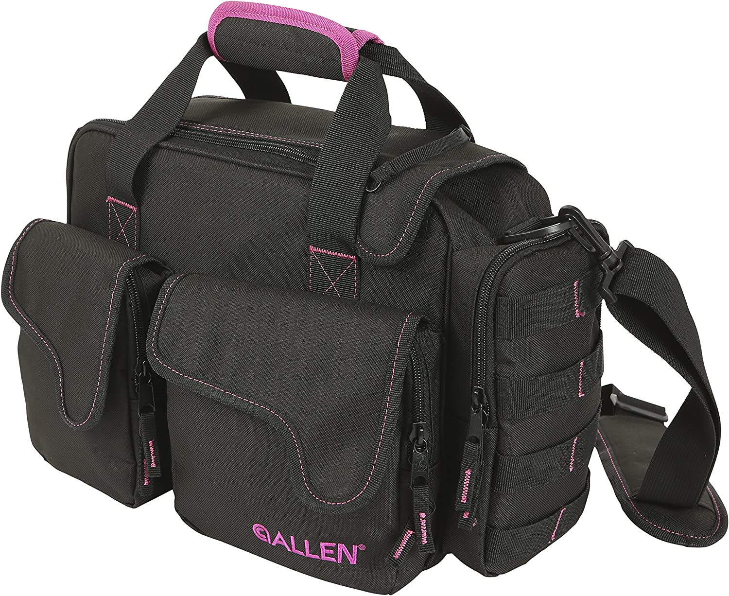 Allen Compact Shooting Range Bag for Women, This Range Bag Comes in Black/Pink