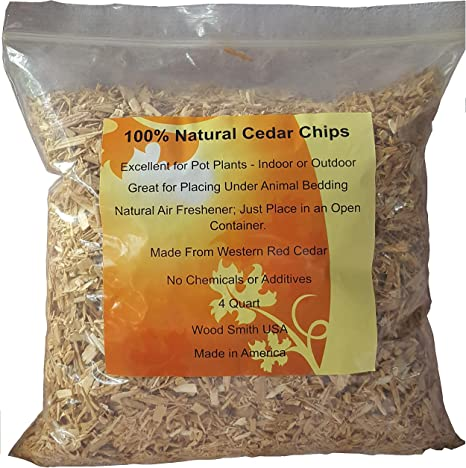 Amazon Com 100 Natural Cedar Chips Mulch Great For Outdoors