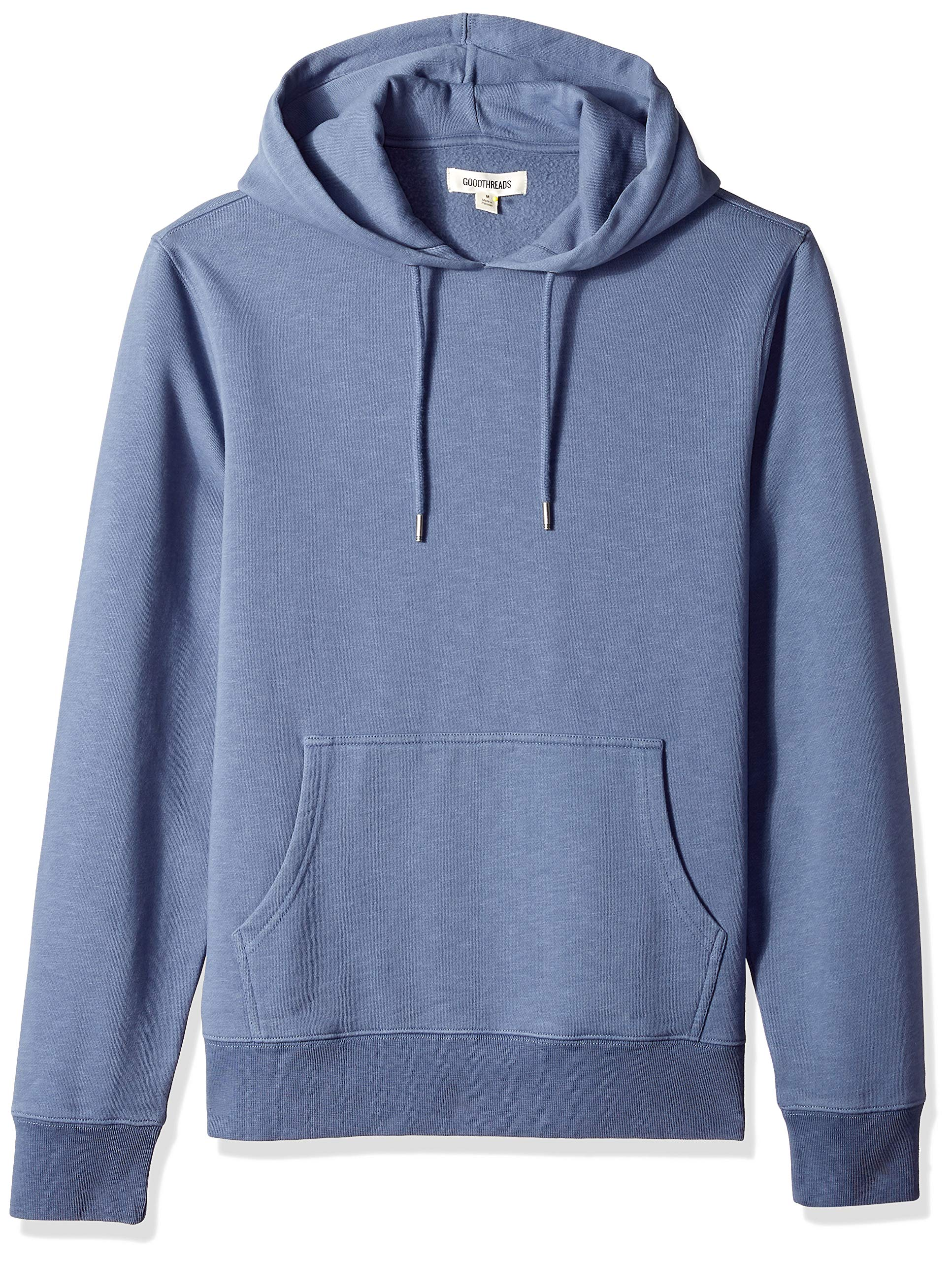 Goodthreads Men's Pullover Fleece Hoodie, Vintage Indigo, Medium