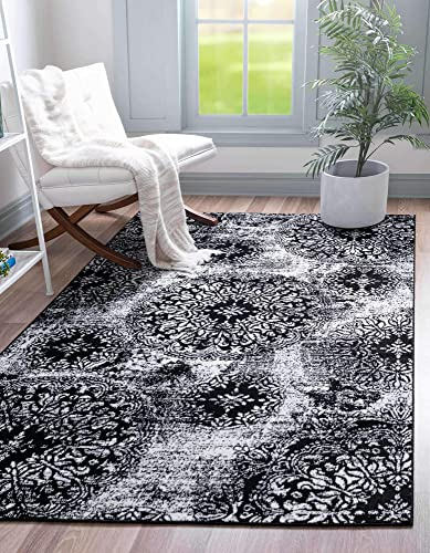 Unique Loom Sofia Traditional Area Rug, 9 0 x 12 0, Black