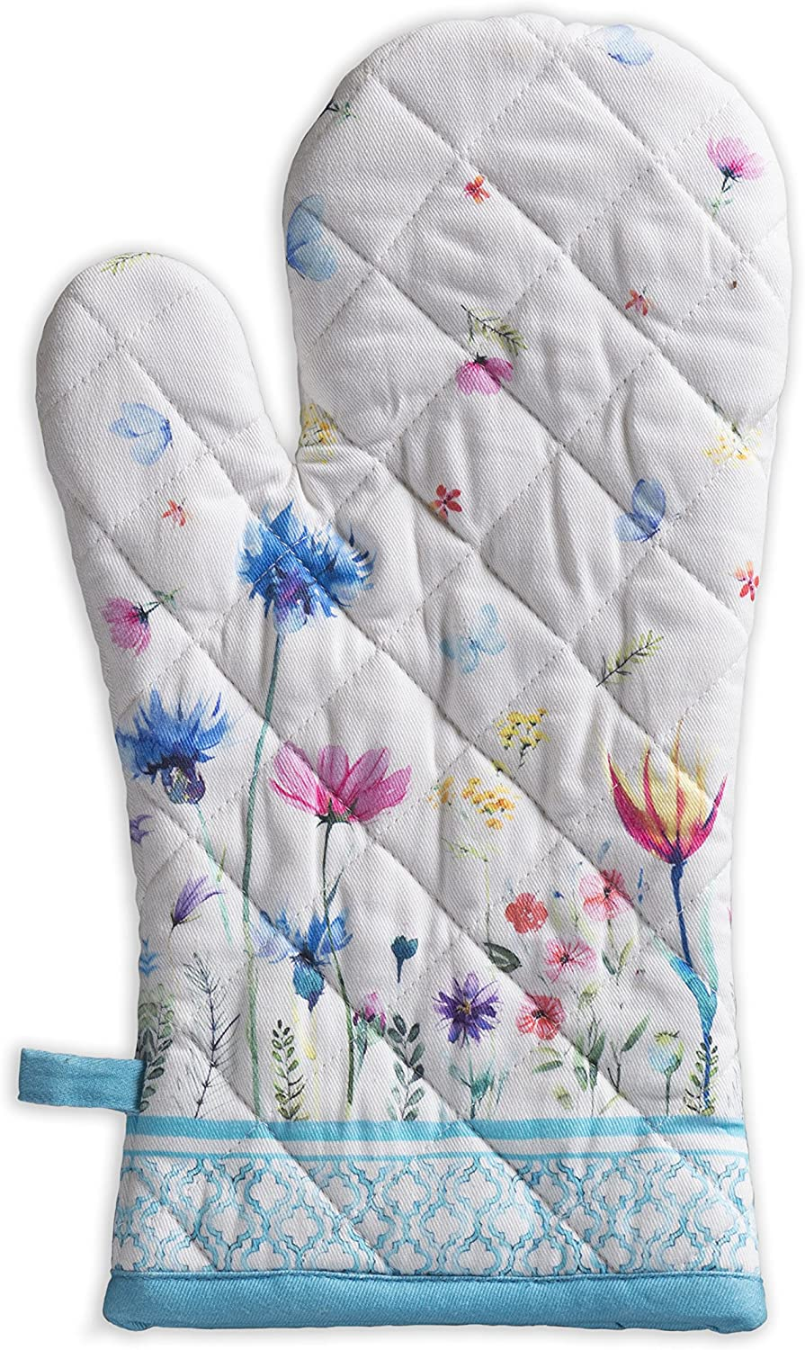 Maison d' Hermine Flower in The Field 100% Cotton Oven Mitt 7.5 Inch by 13 Inch