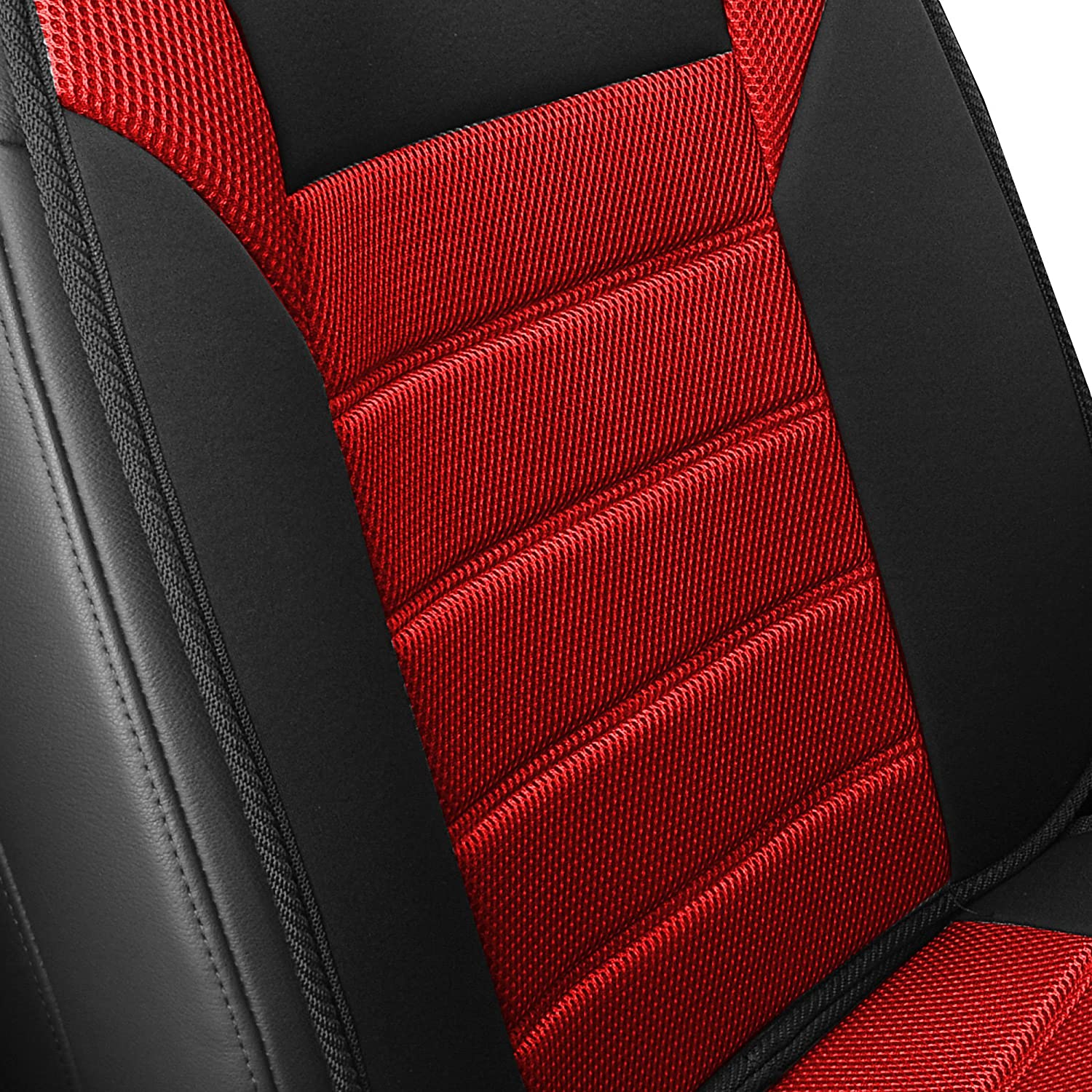 FH Group FB201GRAY102 Black Front Ultra Fine Seat Cushion Pad Side Airbag Safe